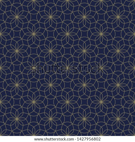 Tracery floral pattern elegant oriental design. Octagon whimsical flower motif on a lavender. Simple symmetrical mosaic elements allover ornament. Print block for apparel textile, brocade dress fabric