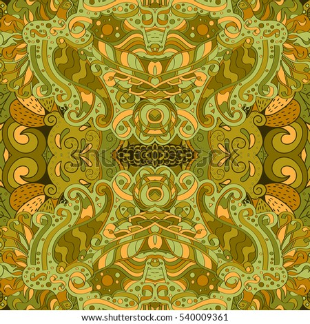 Tracery Seamless Calming Pattern Mehndi Design Ethnic