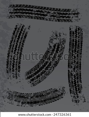 Traces of tires vector background