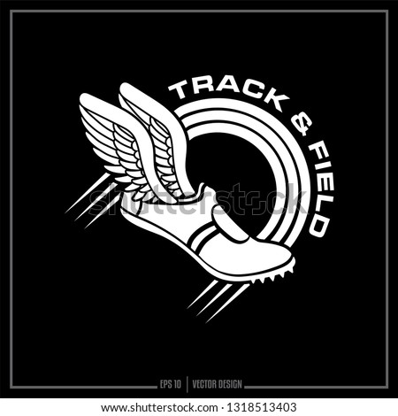 Track and Field, Track logo, Winged shoe, Sports Design