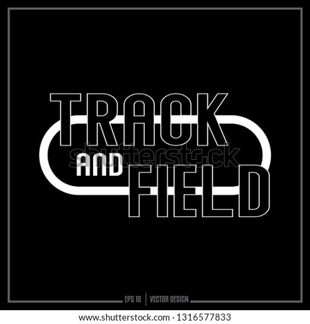 Track and Field, Track, Sports logo