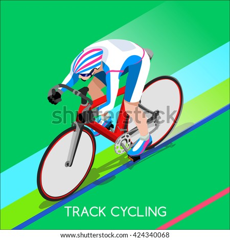 track cycling cyclist character