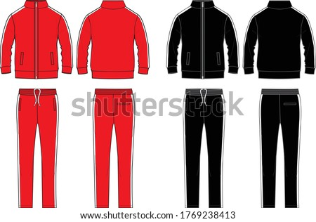 Track suit fashion flat template Stock photo ©