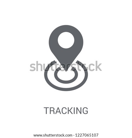 Tracking icon. Trendy Tracking logo concept on white background from Technology collection. Suitable for use on web apps, mobile apps and print media. Stockfoto ©