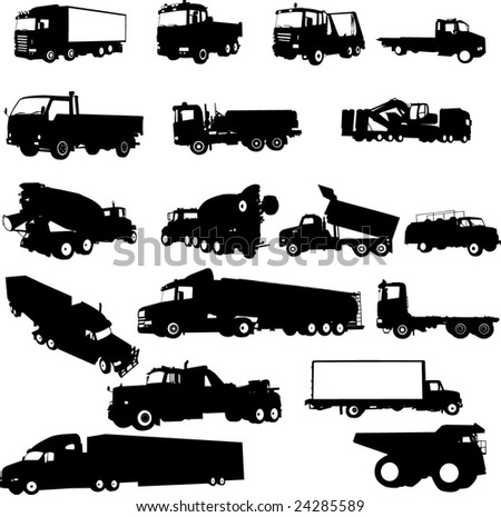 tracks collection - vector