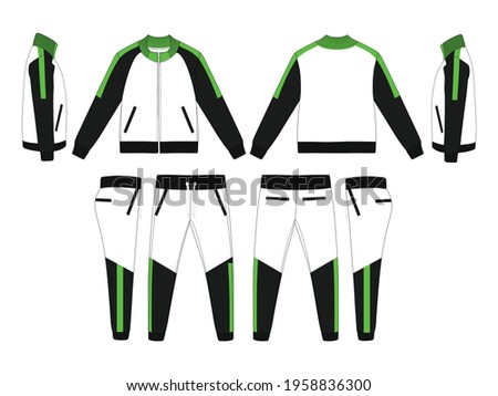 Tracksuit, Modern and Minimalist Style Design, Black and Neon Green, Commercial Use Stock photo ©