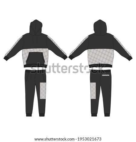 Tracksuit, Modern and Minimalist Style Design, Black and Rectangle Commercial Use Stock photo ©