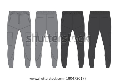 tracksuit sports item men and women color option with black  white fully editable file  Stock photo ©