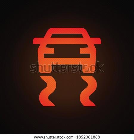 Traction control warning light vector illustration. Stockfoto ©