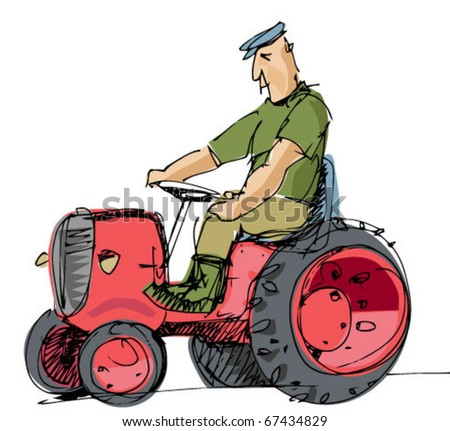 tractor and driver