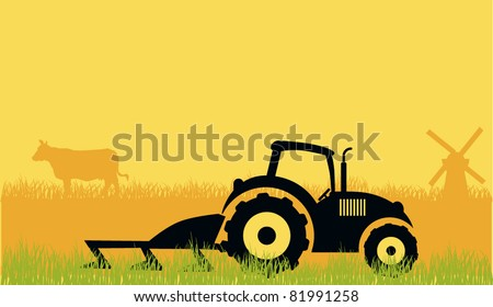 Tractor and farm
