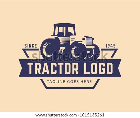 tractor logo or farm logo