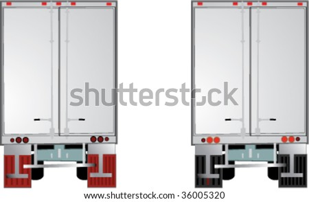 Tractor trailer - rear view