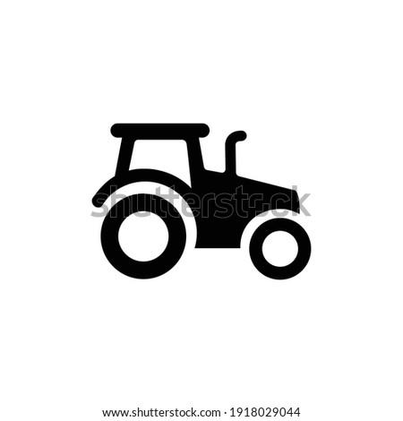 tractor vector icon or logo