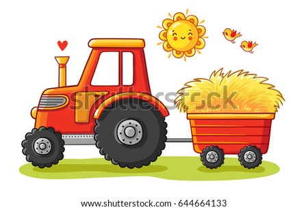 tractor with a cart the