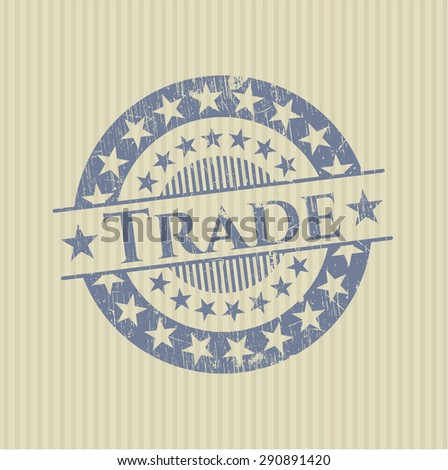 Trade rubber grunge stamp