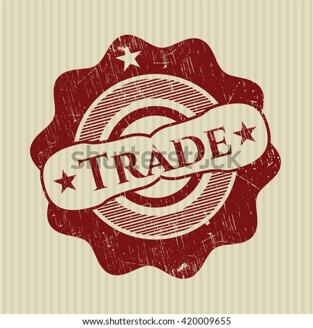 Trade rubber grunge texture seal