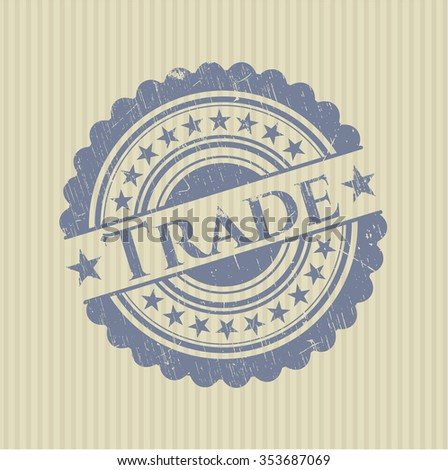 Trade rubber grunge texture stamp