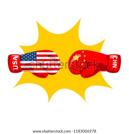 Trade war concept backgrounds vector.