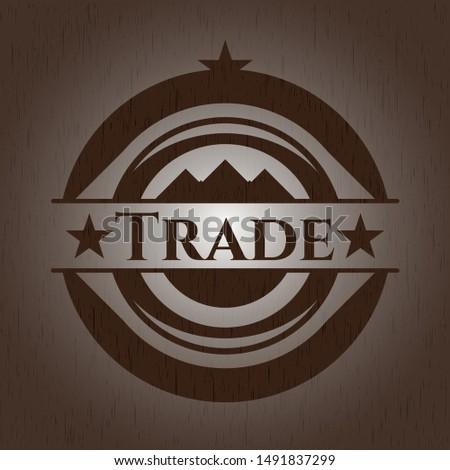 Trade wooden signboards. Vector Illustration.