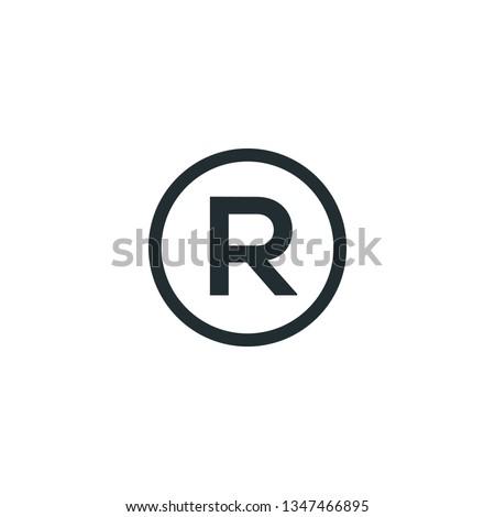 trademark icon vector #1347466895