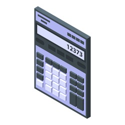 Trader calculator icon. Isometric of trader calculator vector icon for web design isolated on white background