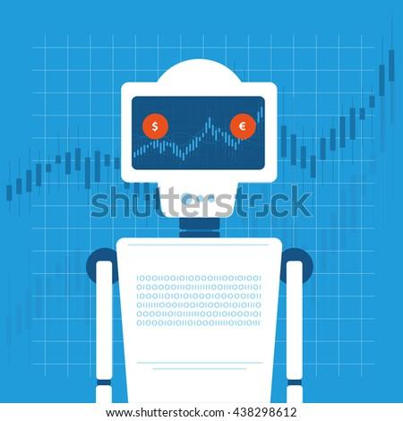 trading robot vector