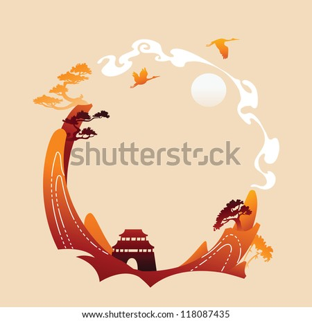 traditional abstract asian