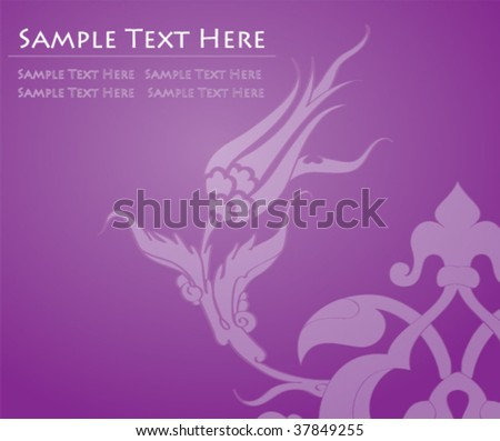 Traditional abstract ottoman flower background