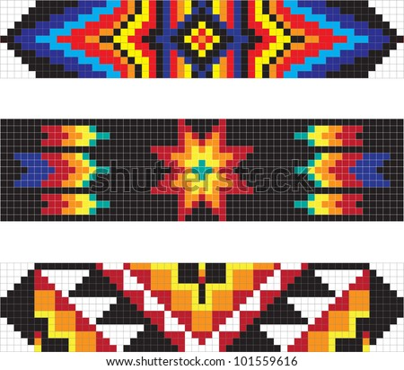 Traditional American Indian pattern, vector illustrations