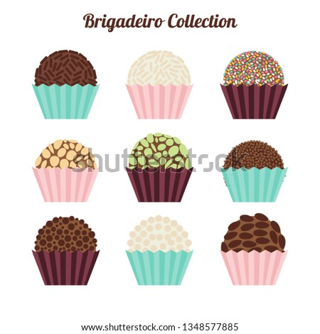 Traditional Brazilian Brigadeiro Vector