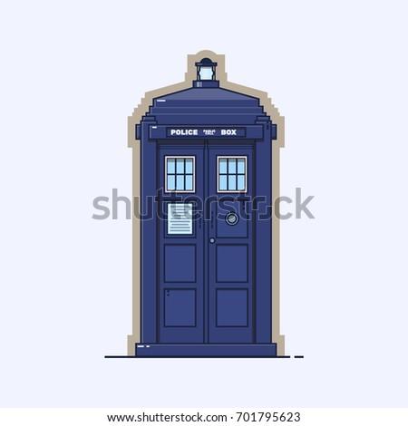 traditional british police box