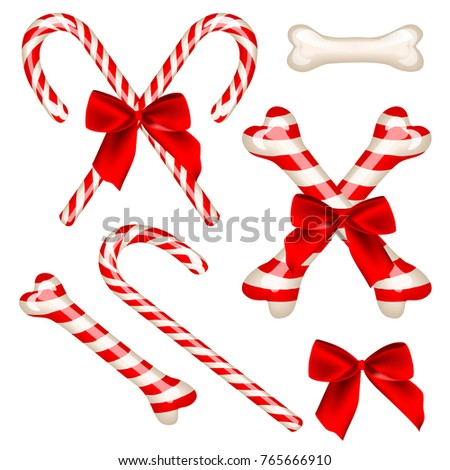 traditional candy cane and