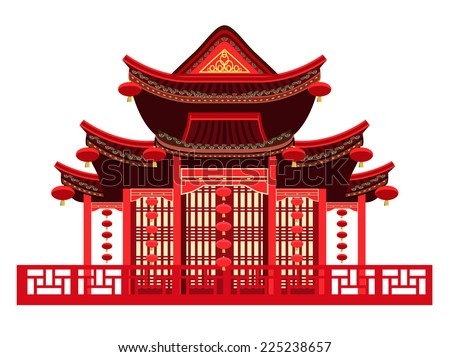 traditional chinese house with