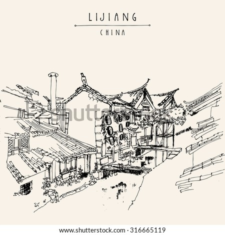 traditional chinese houses on