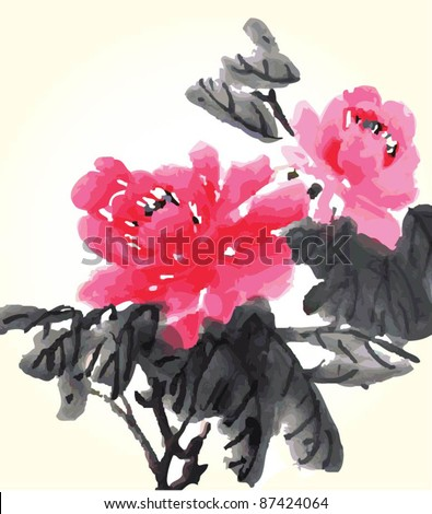 Traditional chinese painting-flower version