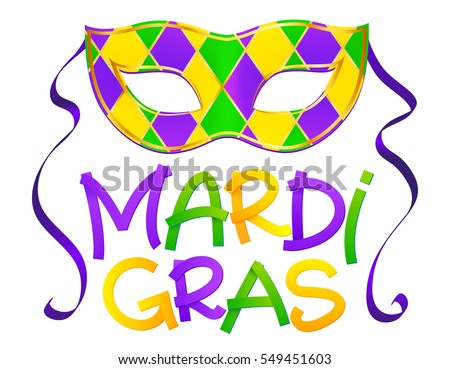 Mardi gras vectors download free vector art stock graphics images traditional colors vector carnival mask with hand drawn mardi gras lettering isolated on white background m4hsunfo