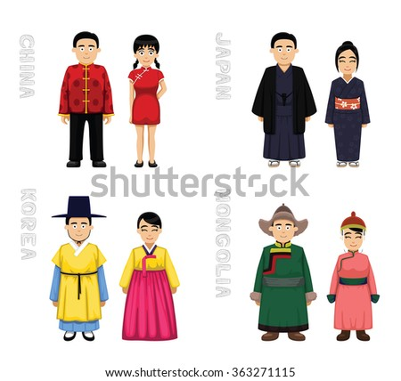 traditional costumes cartoon