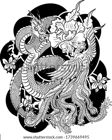 traditional dragon battle with