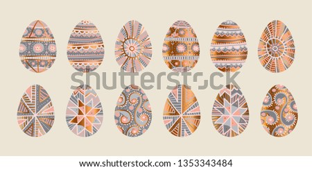 traditional easter egg hand