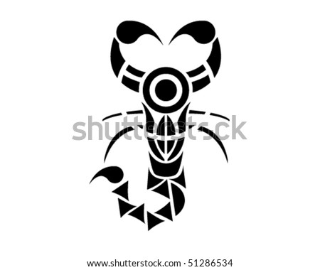 stock vector Traditional Egypt Scorpio tribal vector illustration