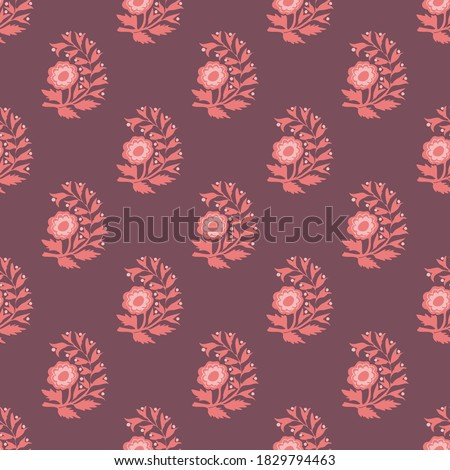 Traditional floral vector seamless pattern design Stock photo ©