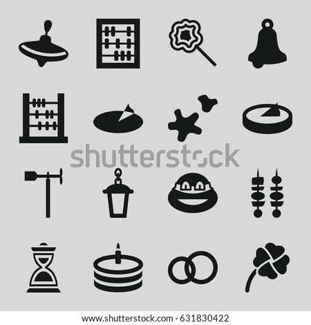 traditional icons set set of
