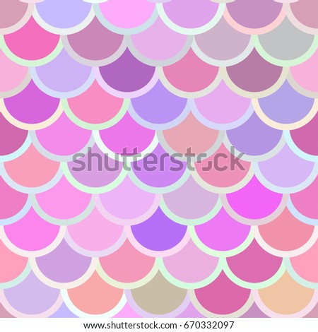 Traditional Japanese seamless pattern. Pink soft colored fish squama. Mermaid scales. Stock vector