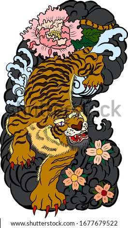 traditional japanese tiger with