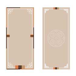 Traditional Korean banner, vector illustration isolated on white background