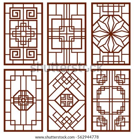 traditional korean door and