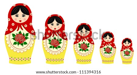 Traditional matryoschka dolls