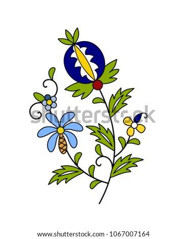 Traditional, modern Polish - Kashubian floral folk decoration vector Zdjęcia stock ©