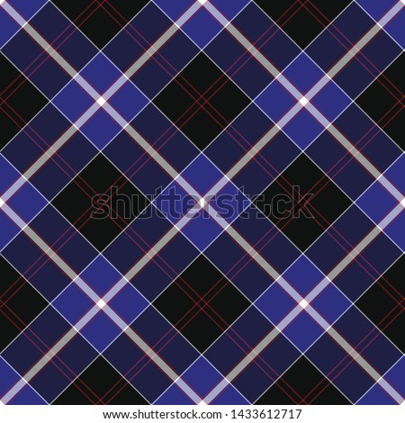 Traditional Modern Tartan of Scottish Clan Dunlop. Seamless pattern for fabric, kilts, skirts, plaids. Diagonal cell